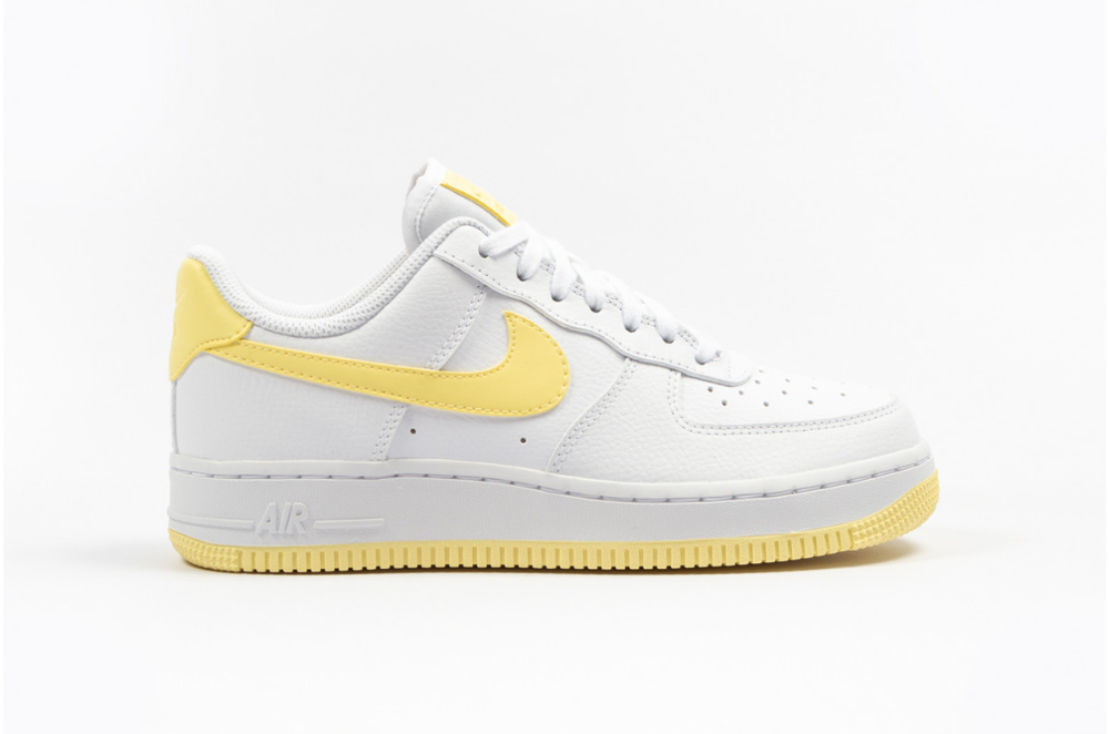 Nike Womens Air Force 1 07 Bicycle Yellow White AH0287-106 ...