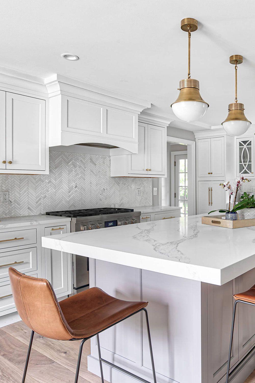 27 Marble Herringbone Backsplash Marble White Kitchen Kitchen Style White Marble Kitchen Marble Countertops Kitchen