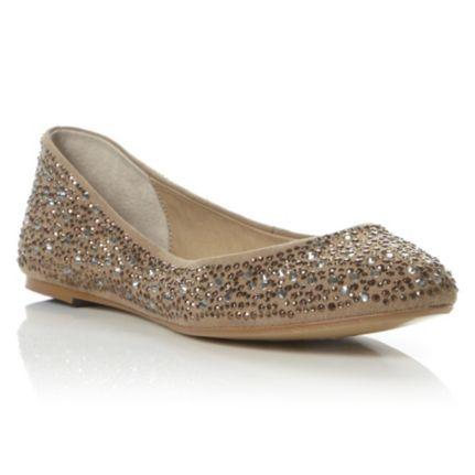 5552836f2d0c DUNE LADIES MARTHAS - Now £30.00 - Diamante Embellished Ballerina by Dune  London  dunelondon  dune  ballerina  bridal  wedding  bride  diamante   sparkle ...