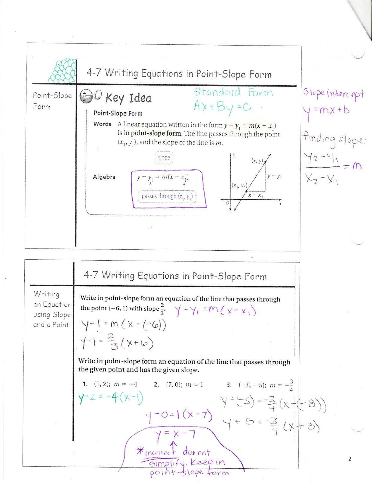 Point Slope Word Problems Worksheet Writing Equations In Point Slope Form Answer Key Tessshebaylo In 2021 Word Problems Word Problem Worksheets Writing Equations