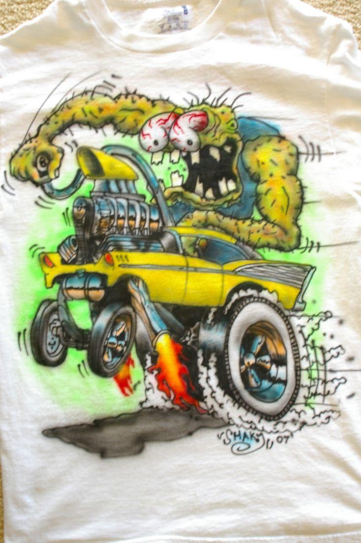 Gasser Cartoons Gasser Airbrushed Monster Shirt Dap Of