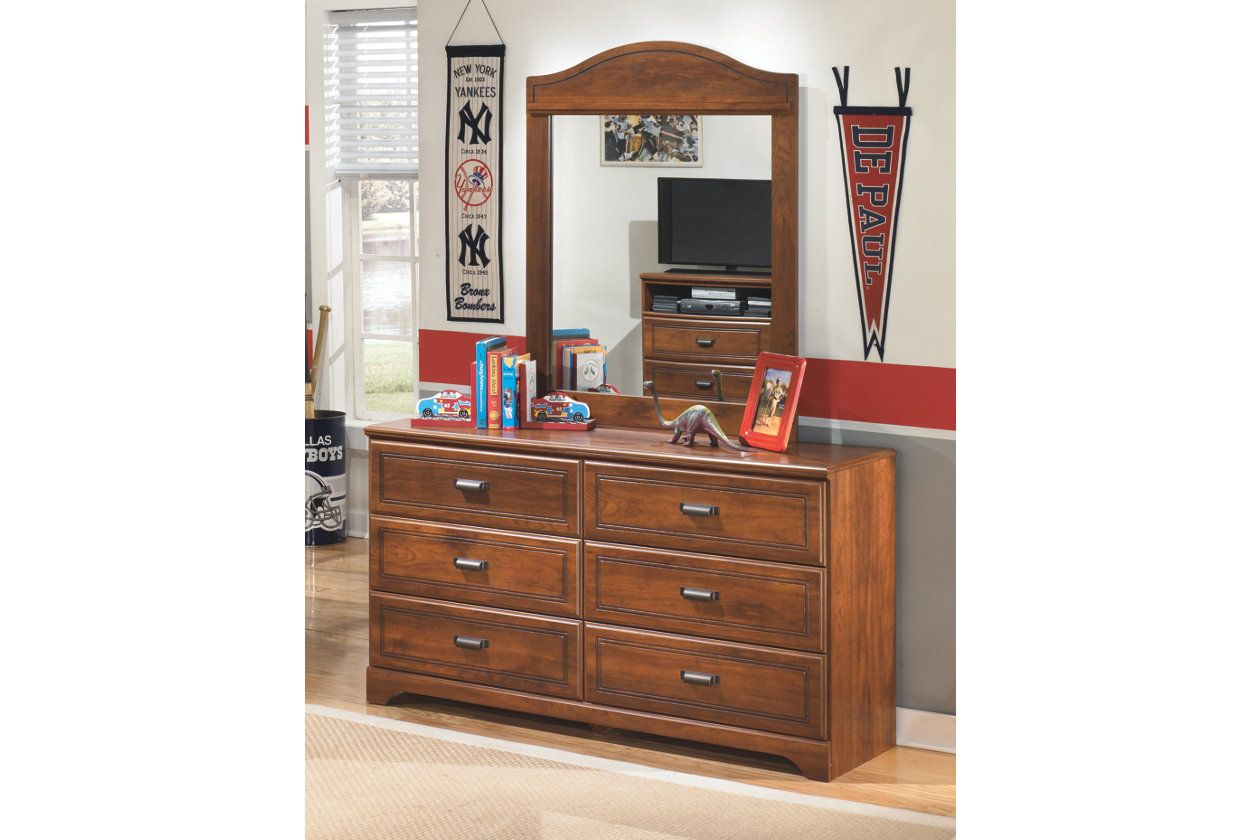 Barchan Dresser And Mirror Medium Brown At Home Furniture Store