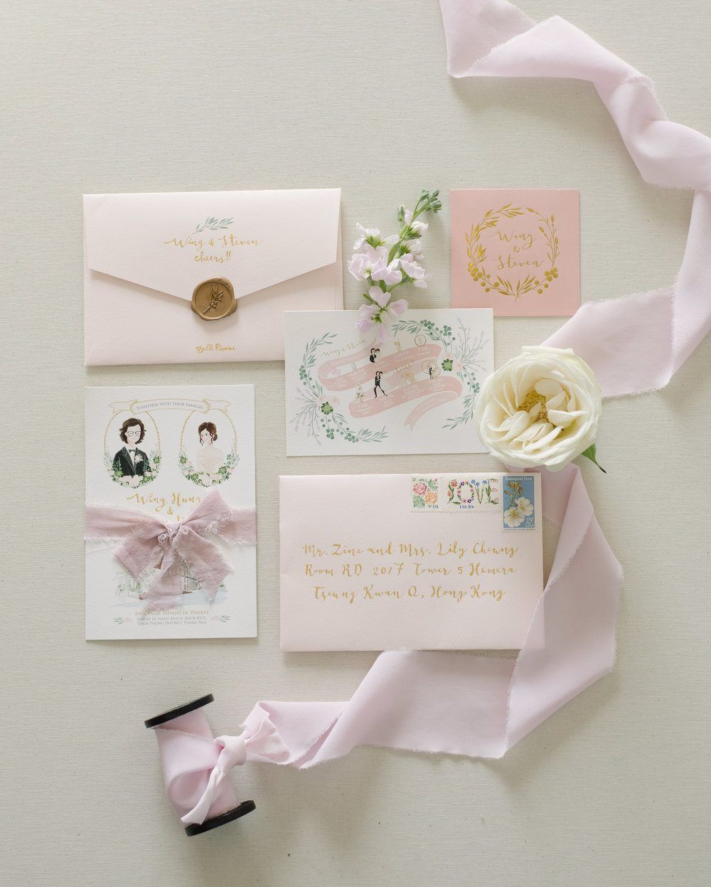 Intimate Wedding Invitation Wording: Intimate Thailand Wedding With A Pastel Garden Ambiance