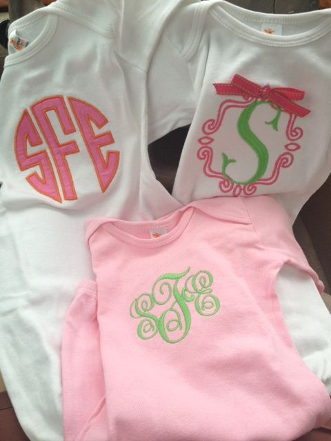 Darling Monogrammed Baby Girl Gowns - link takes you to a blog ...