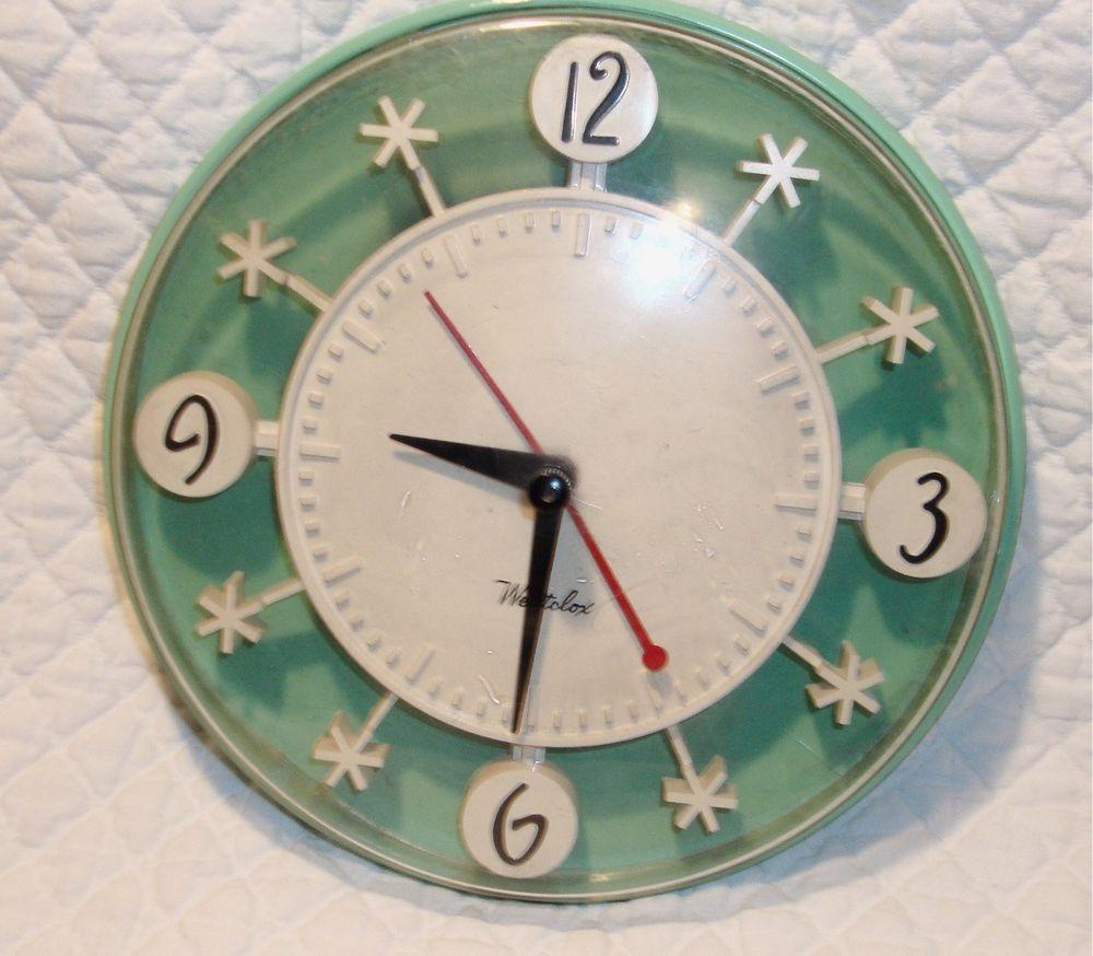 Westclox Snowflake Vintage Kitchen Clock 1950 S Kitchen Clocks Vintage Kitchen Kitchen Wall Clocks