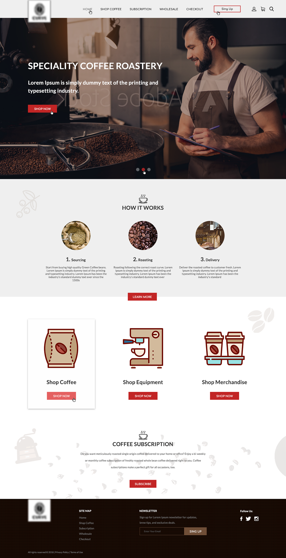 Design Web Site For Coffee Shop In 2020 Cafe Website Design Cafe Website Web Design