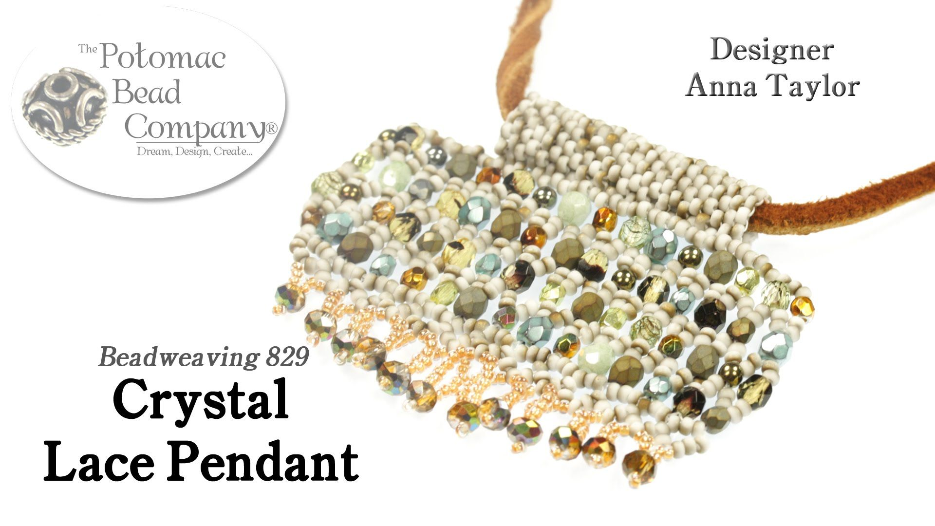 Anna taylor shows how to take a netted crystal lace bracelet design