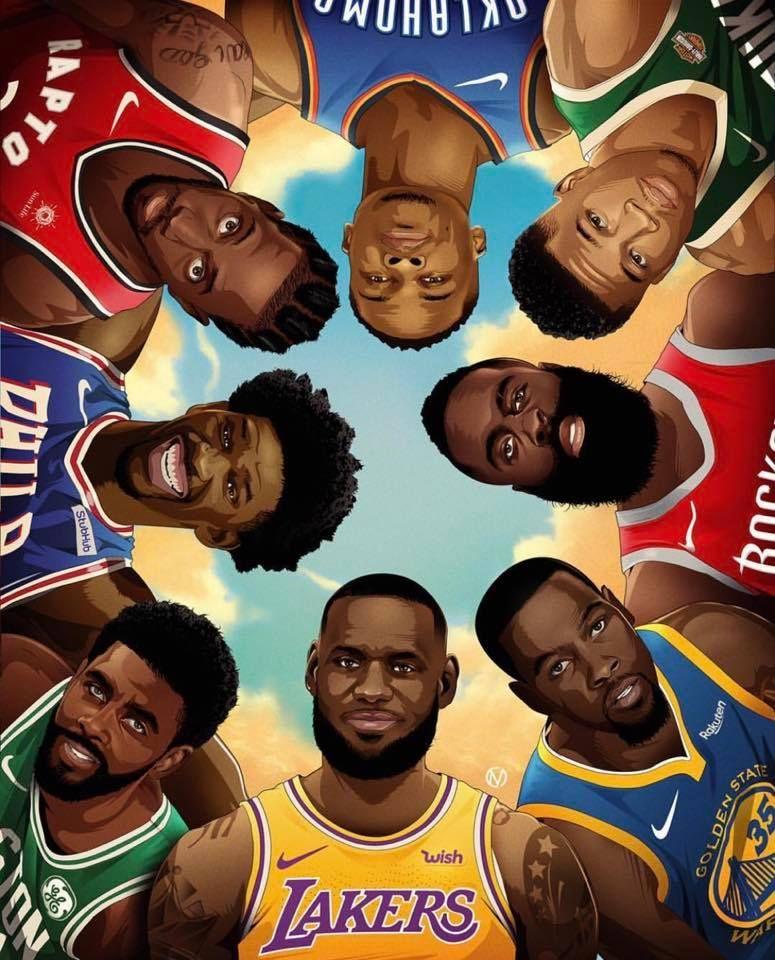 Lebron Westbrook Jamesharden Kyrie Embiid Durant Kawhi Greekfreak Nba Nba Art Basketball Players Nba Basketball Workouts