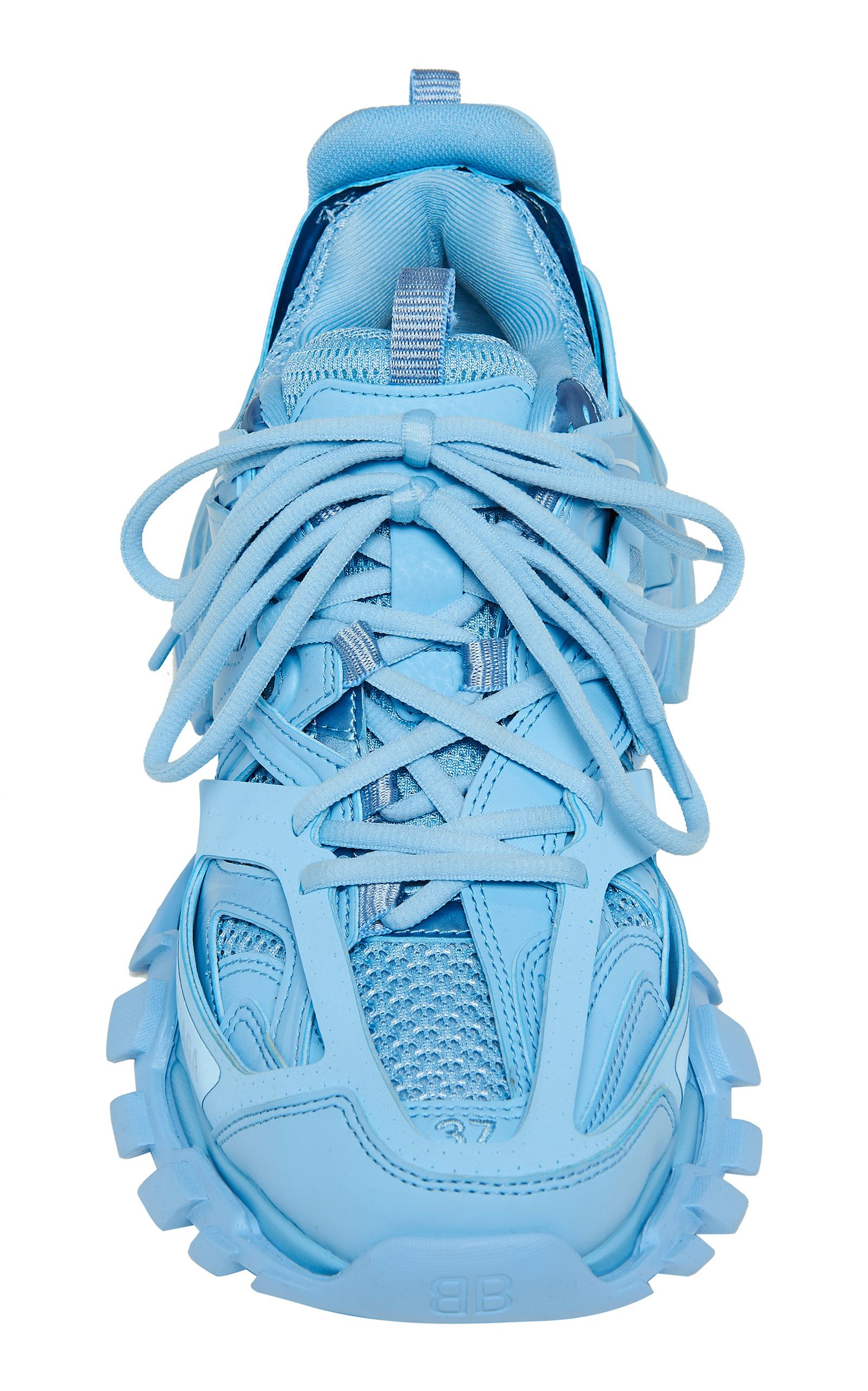 Balenciaga Track Leather And Mesh Sneakers In 2021 Sneakers Hype Shoes Balenciaga