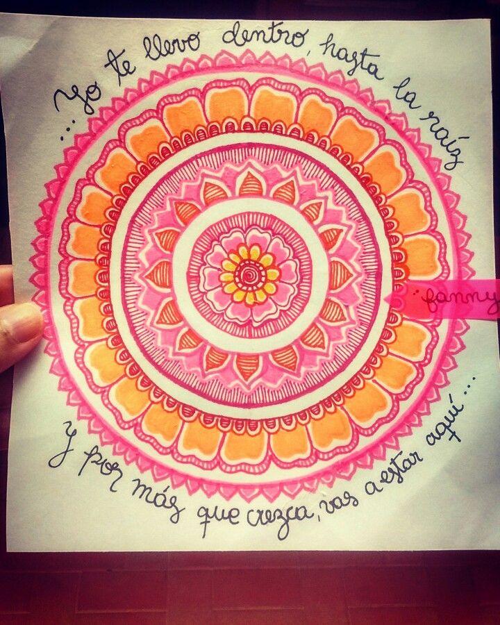 Hasta La Raíz Natalia Lafourcade Mandala Doodle Zentangle Art Diy Painting