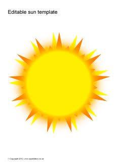 image about Sun Template Printable known as Editable sunlight templates Áprentanlegir miðar - Editable