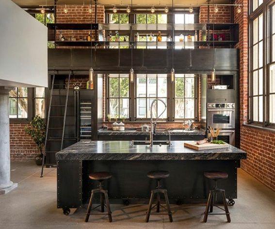 20 Disenos De Cocinas Estilo Industrial Cocina Estilo Industrial Diseno De Interiores Industrial Diseno De Cocina
