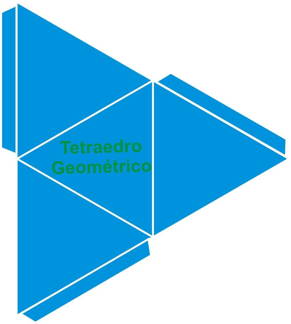 Como Hacer Maquetas: Plantilla de Tetraedro Geometrico ...