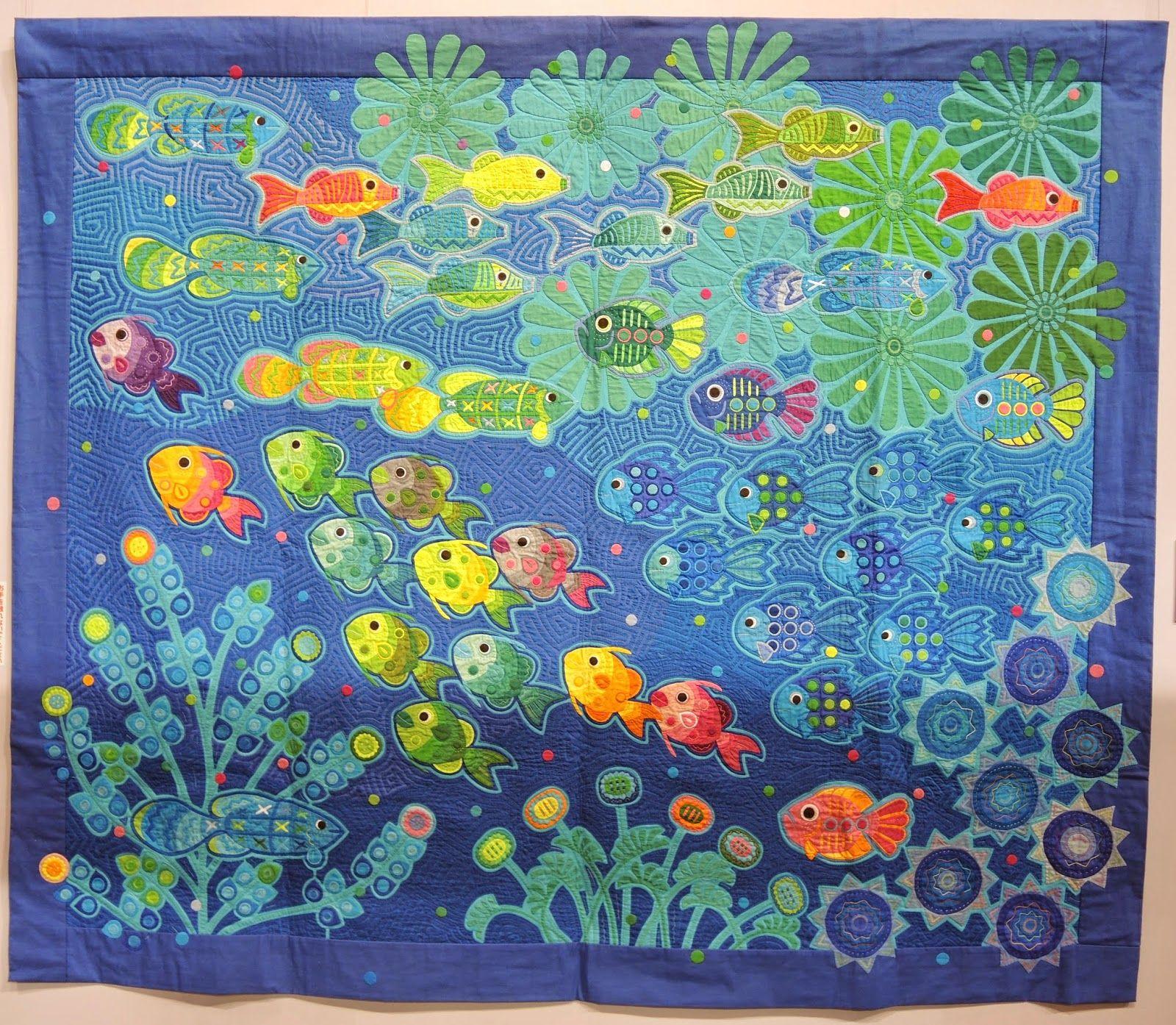 yasuko photo my quilt julie show diary mola fukuda pin fish by tokyo kawaguchi