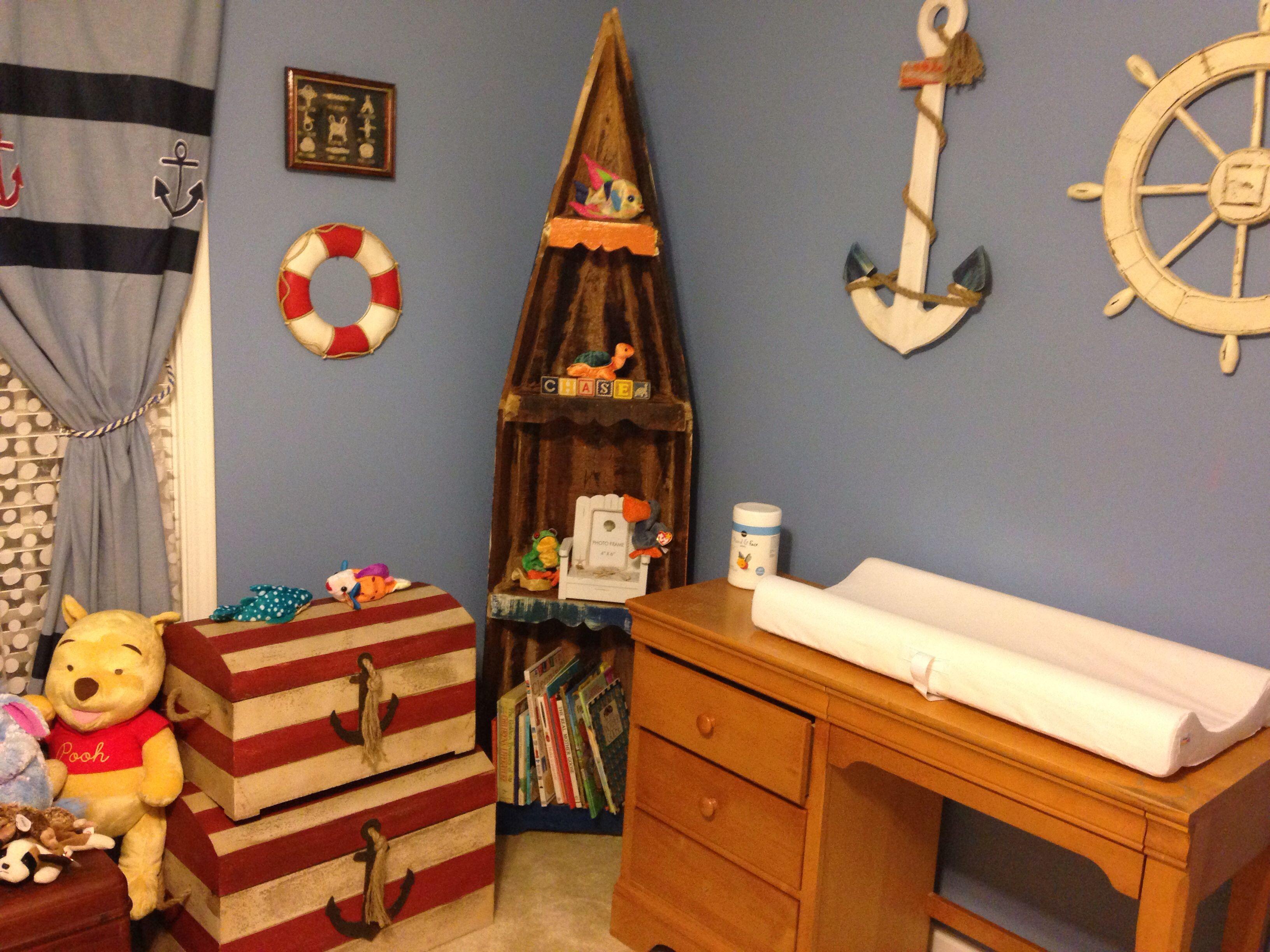 Nautical baby nursery