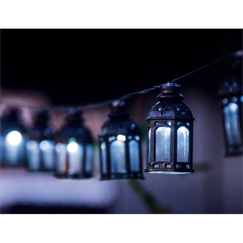 Light Solar String Eden 20 LED Solar Moroccan Lantern String Lights I/N  4351642 |