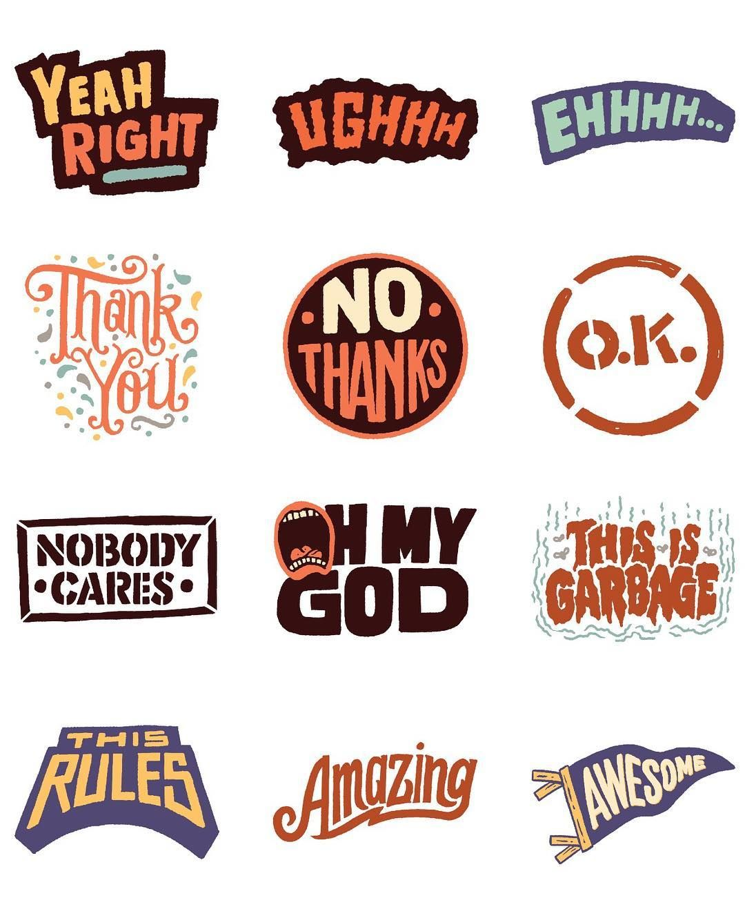 Get this officially obnoxious sticker pack on the ios messages app store now or click the link in my profile