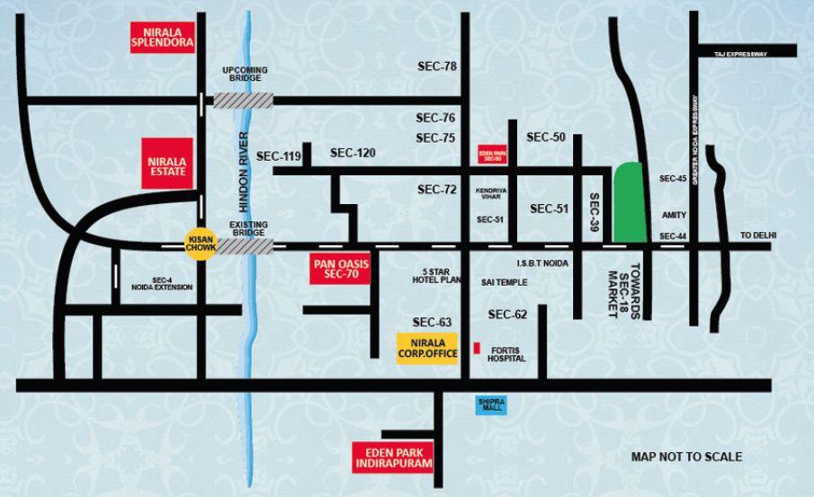 Nirala Estate Apartments Noida Location Locations Noida Location Map