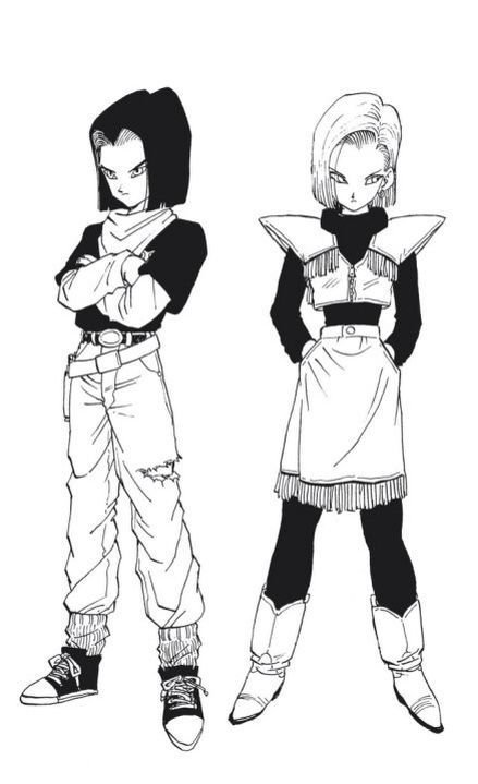 Android 17 And Android 18 Vices Dragon Ball Dragon Ball Z