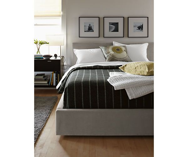 Room Board Wyatt Upholstered Bed Modern Contemporary Beds