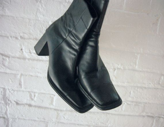 Women Sythetic Square Toe Mid Heel With Buckle Boots