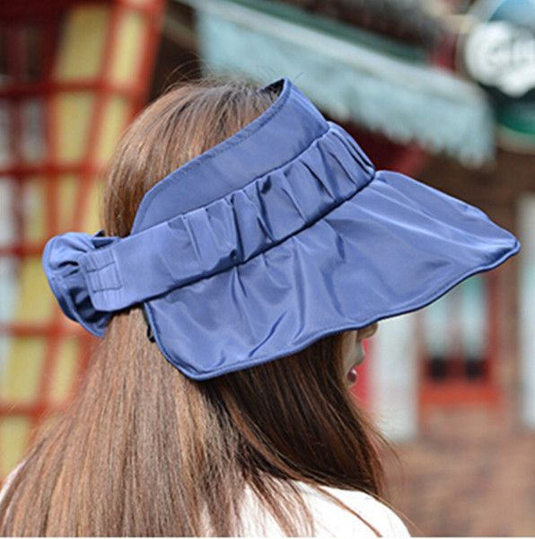 820bb78382e Flower sun visor hat for women UV sun protection hats riding wear ...
