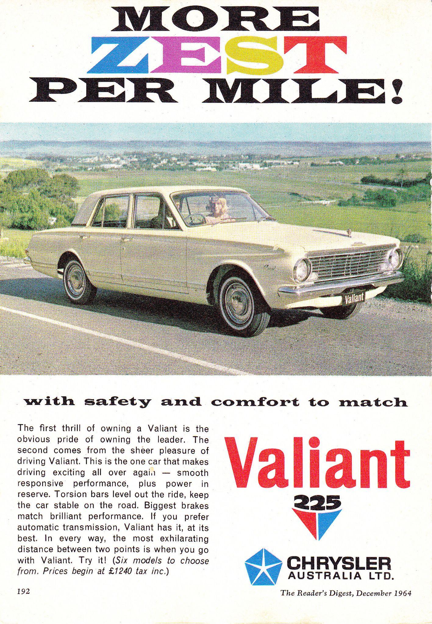 1964 AP5 Chrysler Valiant 225 Regal Aussie Original Magazine ...
