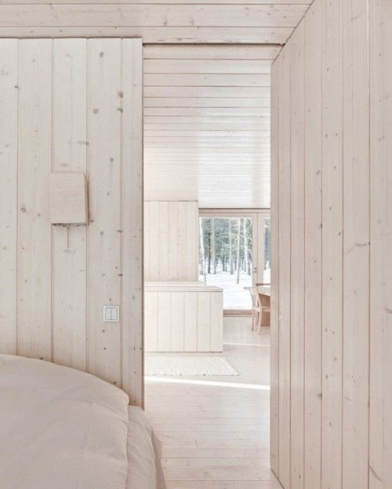 A Pickled Wood Whitewashed Wood Interior White Wood Paneling
