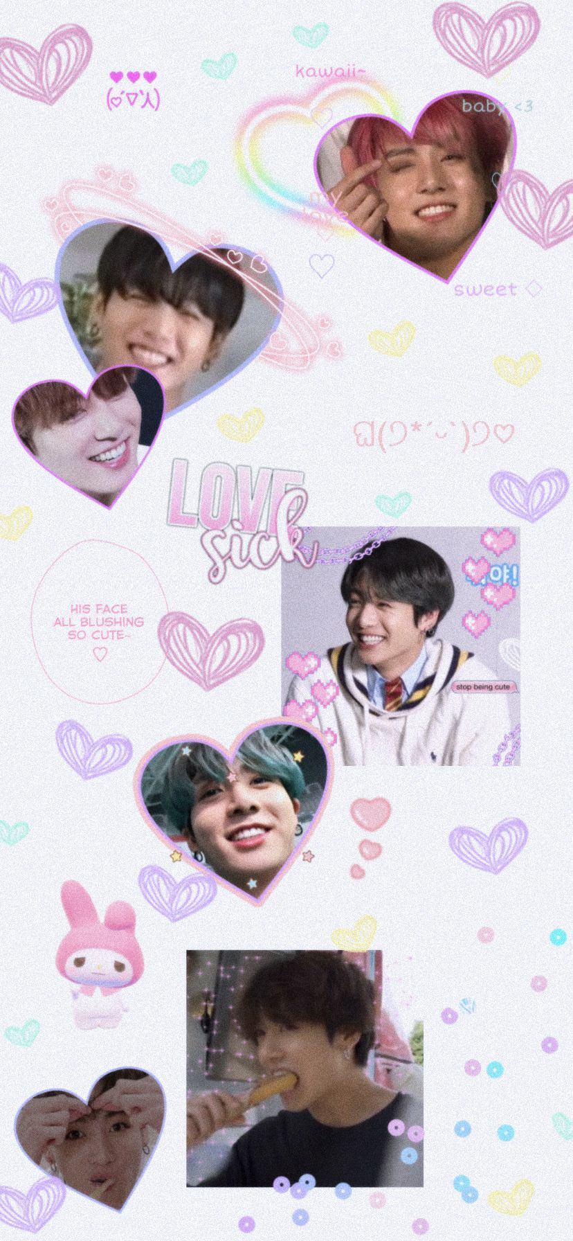 Bts Wallpapers Jungkook X Mymelody Wallpapers Iphone Wallpaper Bts Bts Wallpaper Bts Aesthetic Pictures