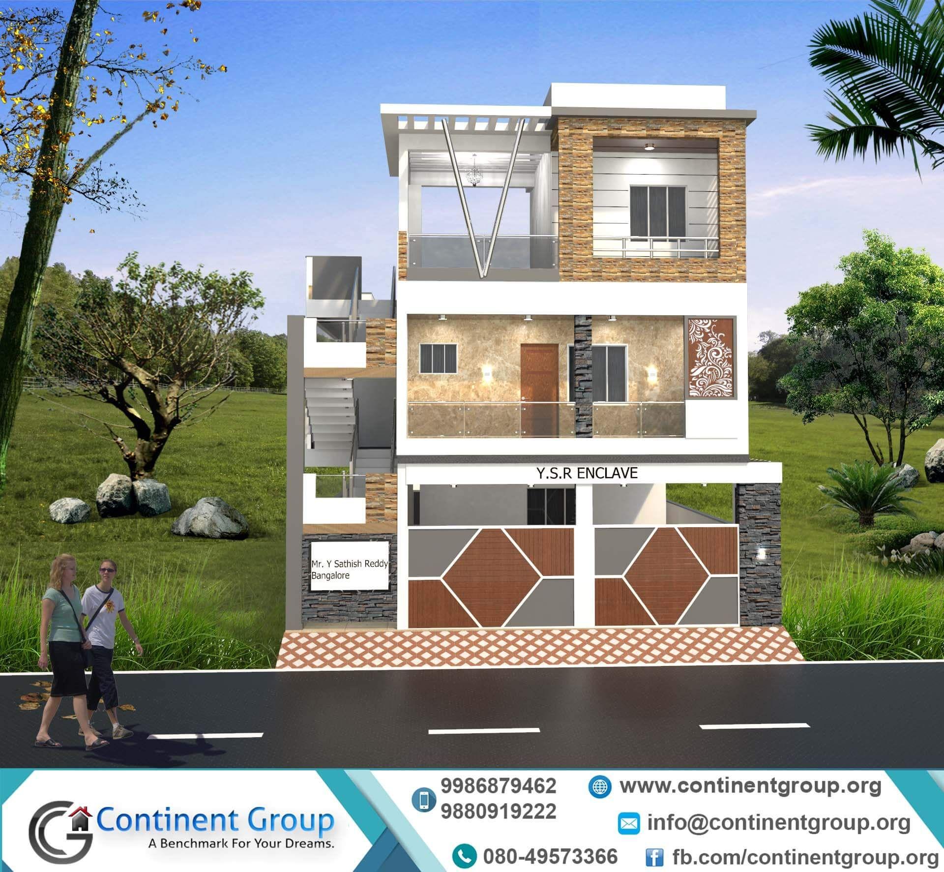 Front elevation design modern new  building also rh pinterest