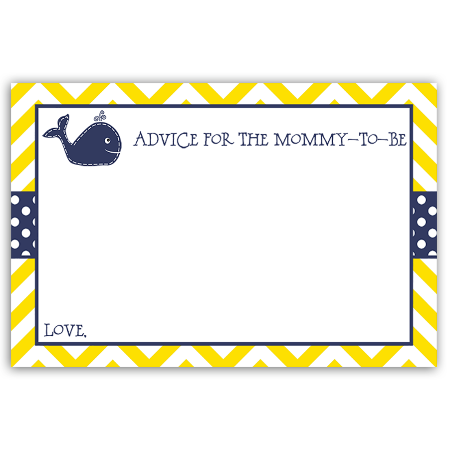 Little Squirt Yellow Advice Card