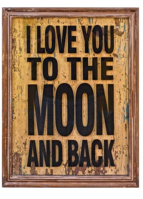 I love you to the moon and back · wood wall decorrustic