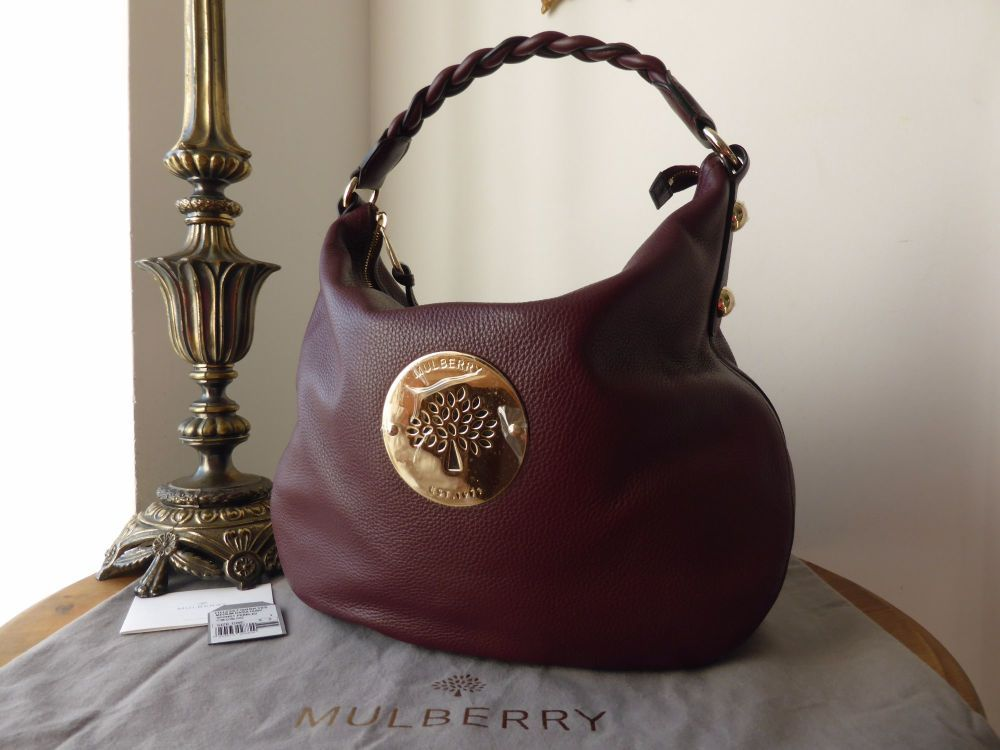 Mulberry Daria Medium Hobo in Oxblood Spongy Pebbled