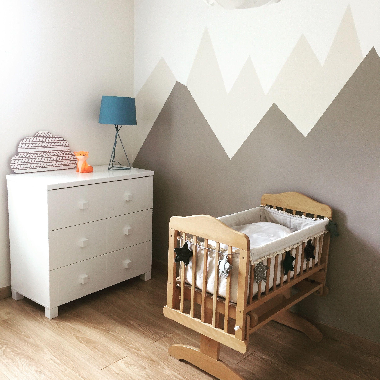 Deco chambre bébé montagne beige taupe  Déco chambre bébé, Deco