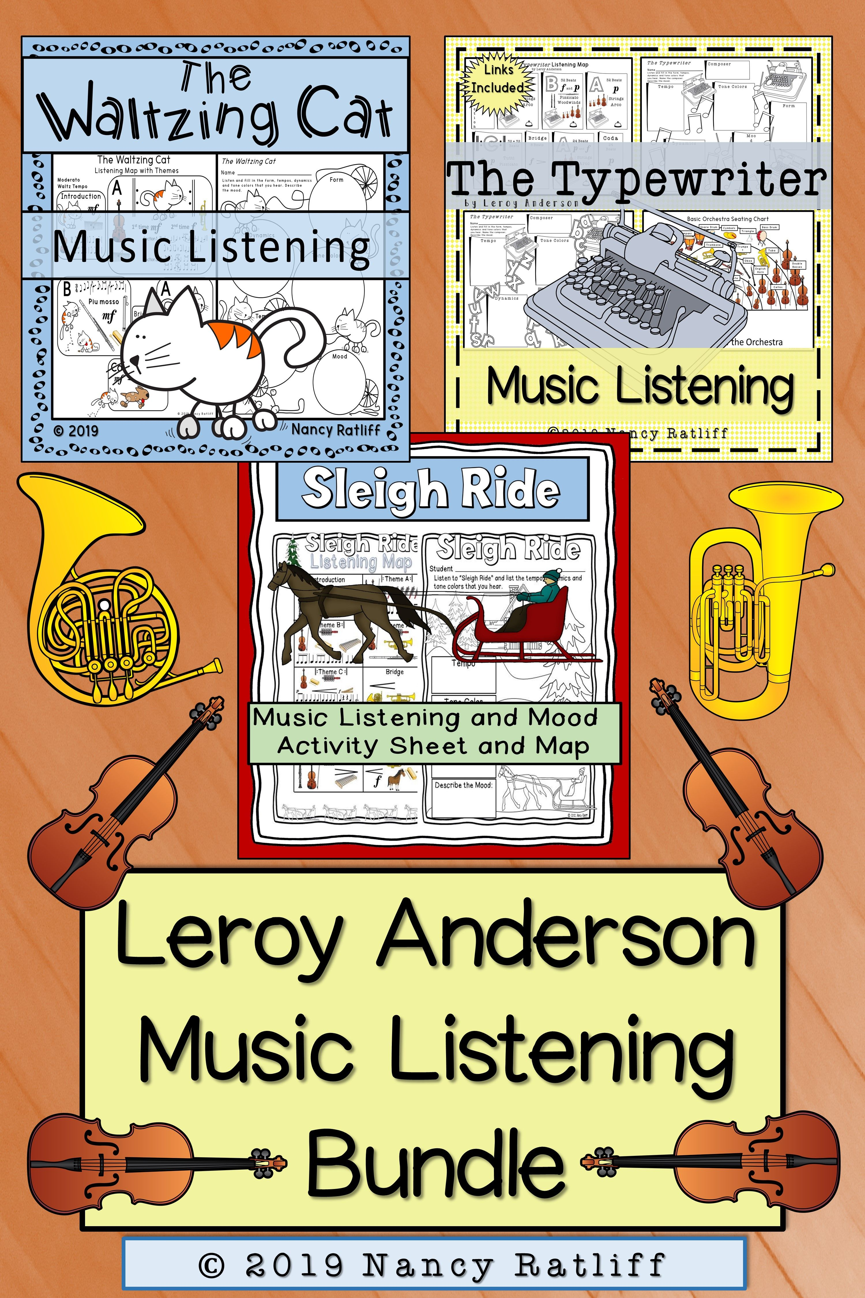 Leroy Anderson Music Listening Bundle The Typewriter