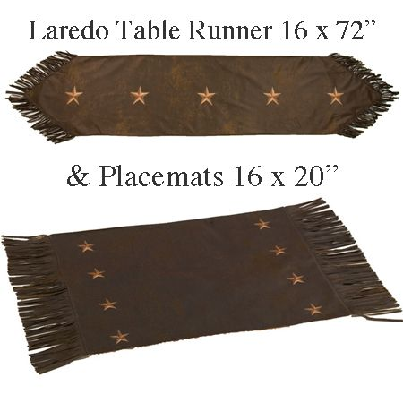 Laredo Western Table Runner And Placemats Will Bring The