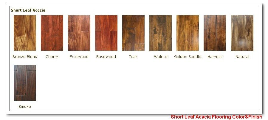 Color Acacia Wood Flooring Stain Color Chart Acacia Wood Flooring Wood Floor Colors Wood Floors