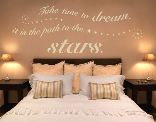 Slaapkamer Muur Quotes : Time to dream wall decals wall quotes words & quotes words