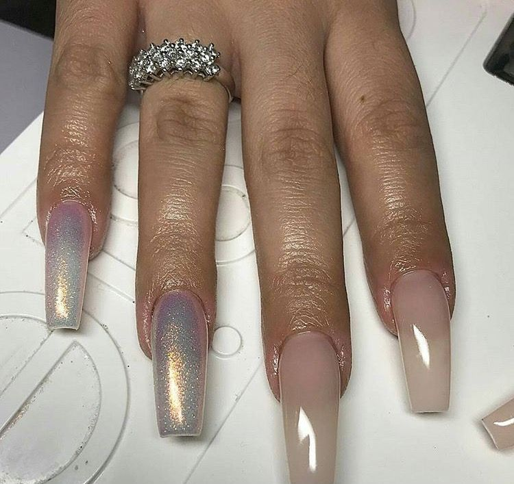 stunning metallic iridescence nails #acyrlic #acrylics #nail ...