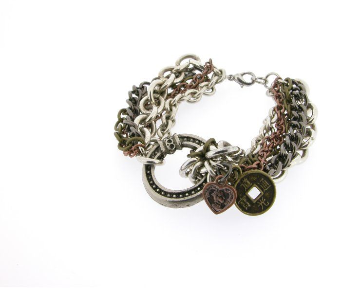 Heavy Metal bracelet Upcycled by Lumoi Jewellery
