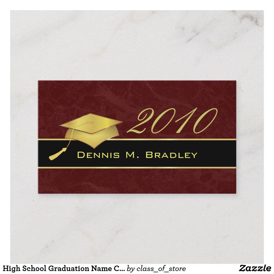 high school graduation name cards  2010  zazzle