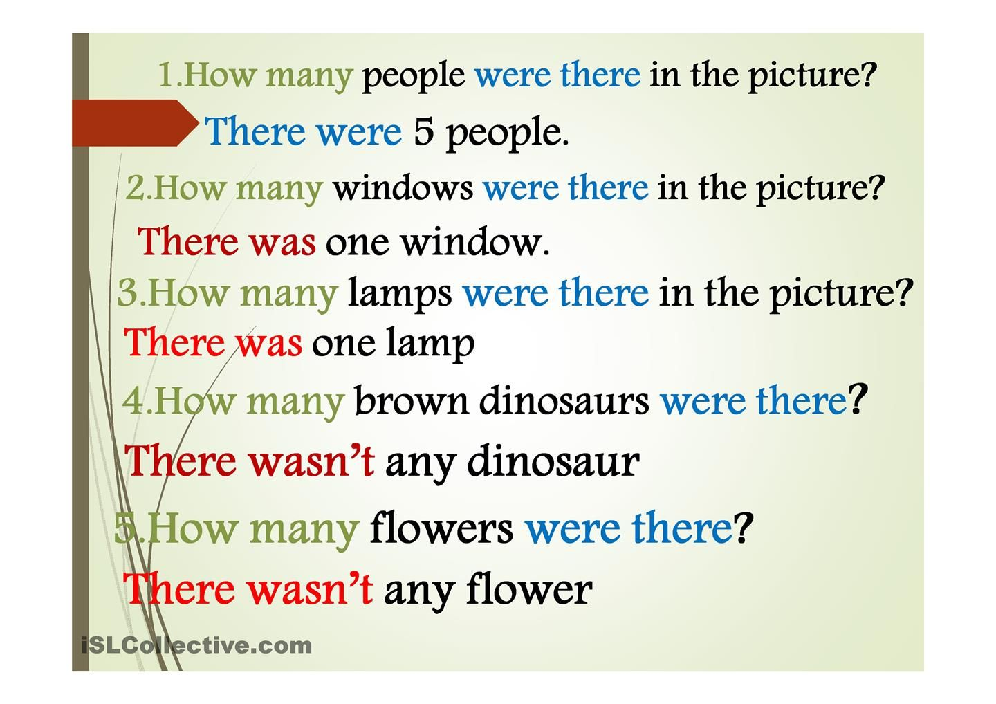 Many Years Ago Were There Esl Powerpoint Worksheet Of