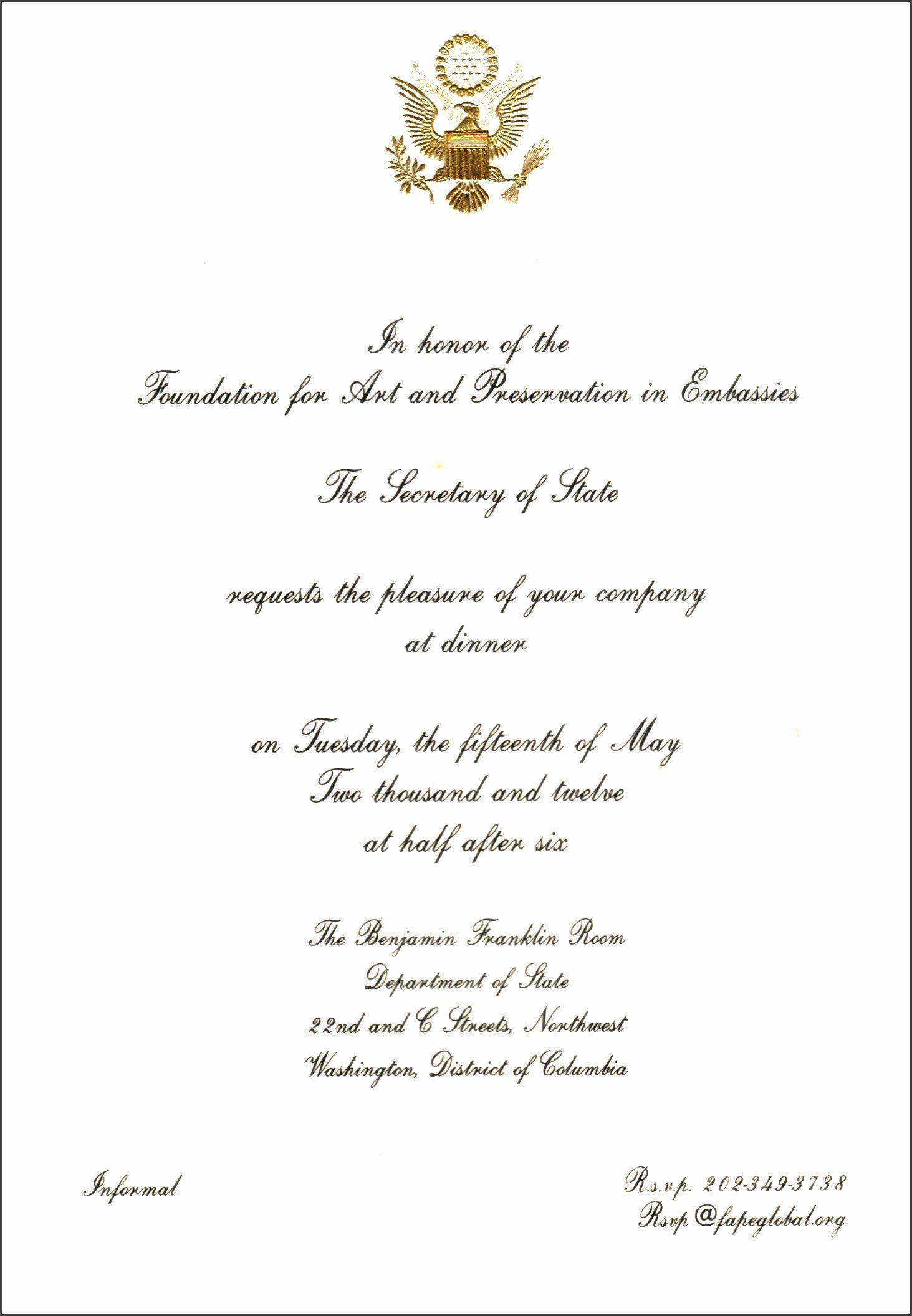 Formal Dinner Invitation Wording New 5 Informal Dinner Invitation