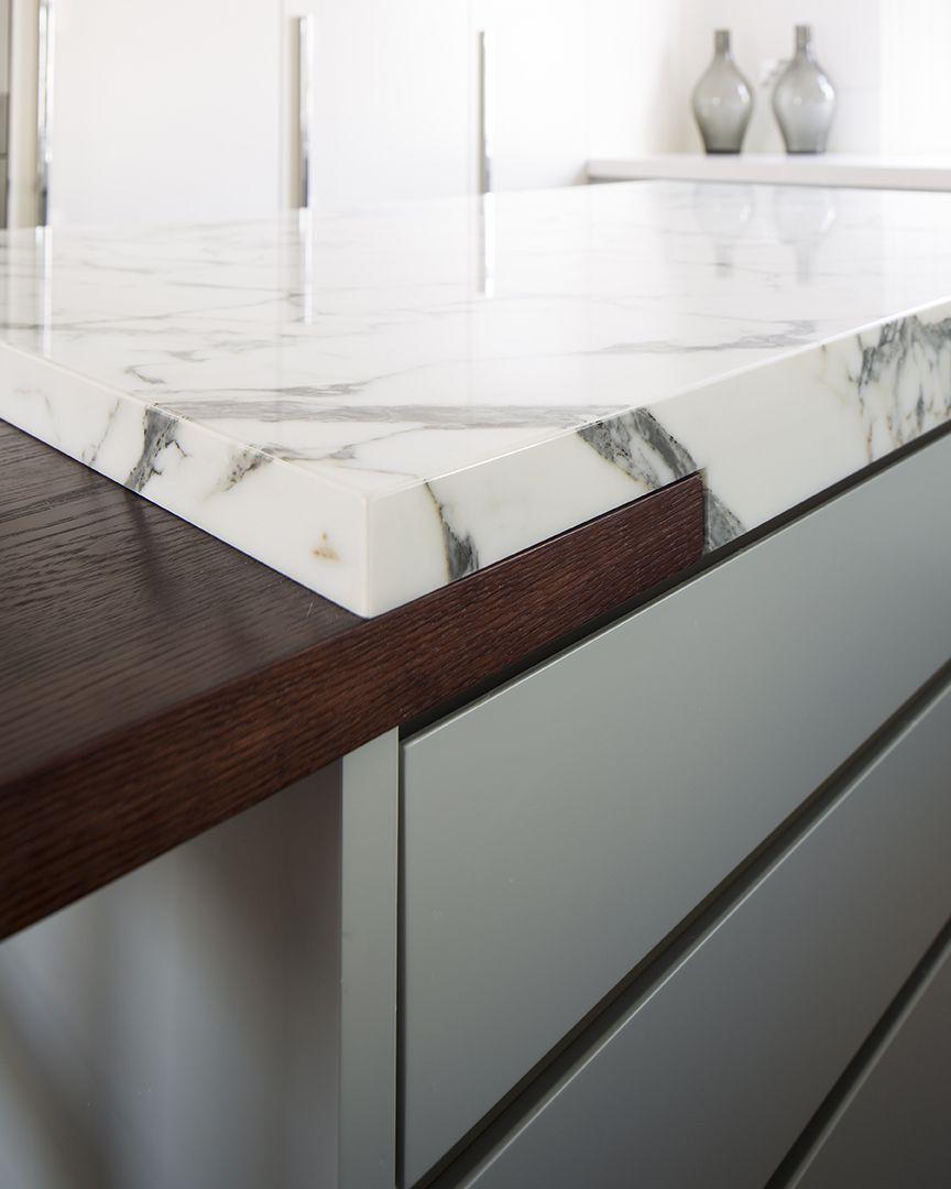 Island Unit Marble Overlaps Oak Top Www Peekarchitecture Co Uk Kitchen Design Kitchen Interior Modern Kitchen