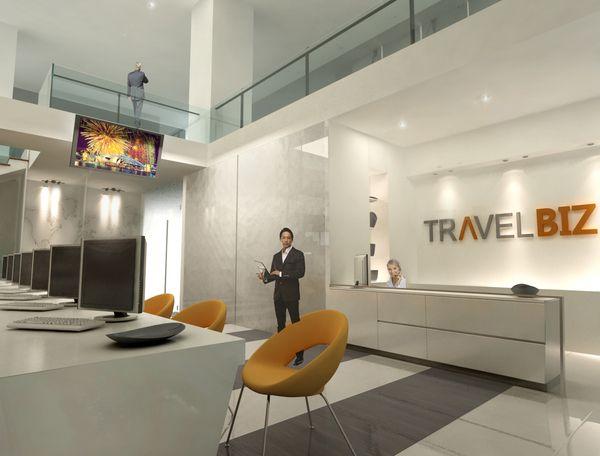 Travel agency office design lobby pinterest office for Travel agency office interior design