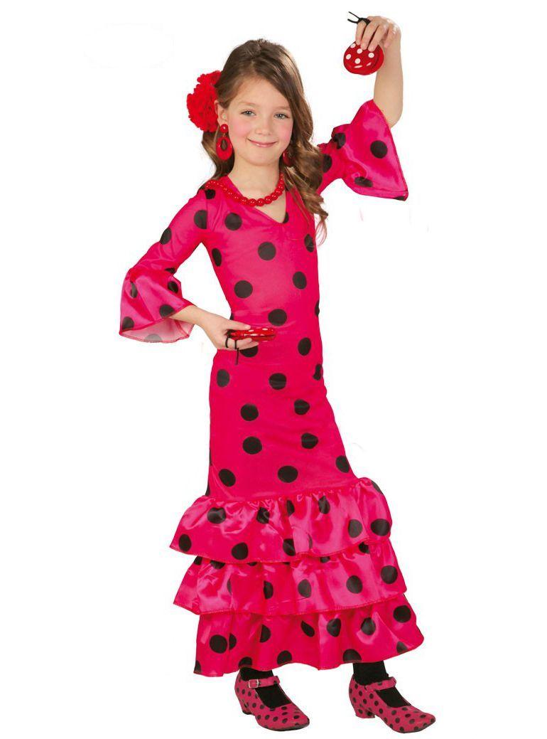 7e762c97d2 Disfraz de sevillana rosa para niña en 2019