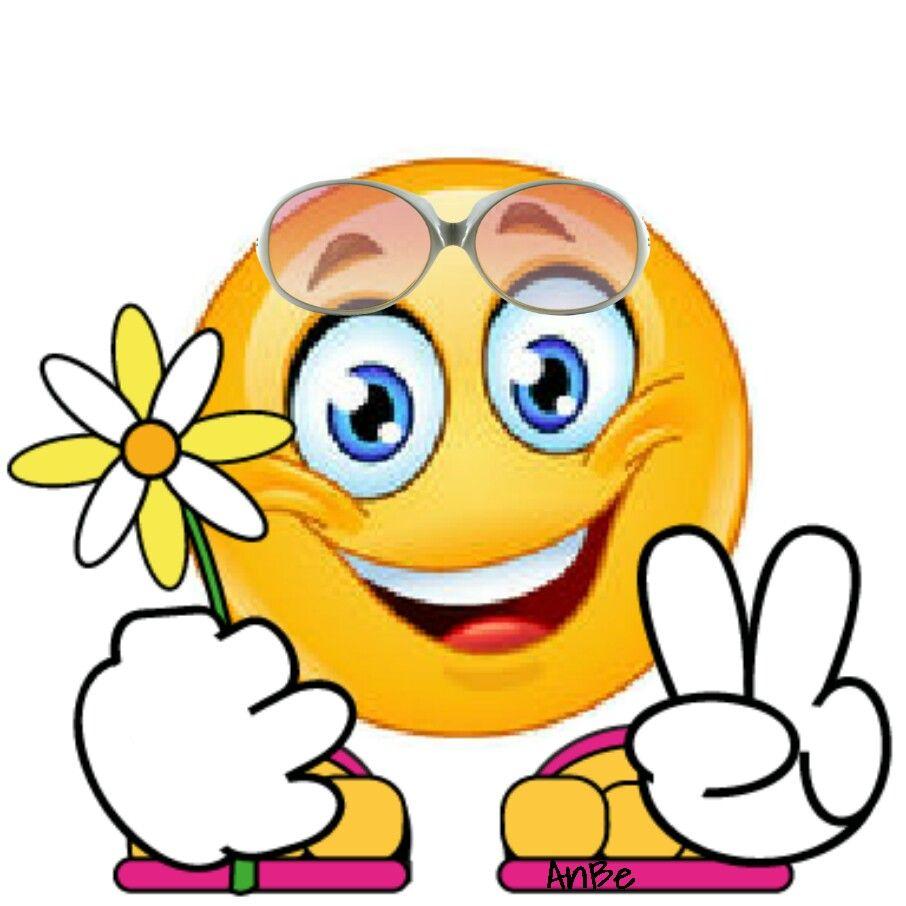 Hola te mando una flor, buenos días | nice 1 | Emoticon ...