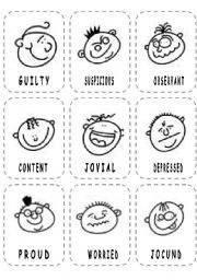 Face feeling with emotions chart printable faces firm profile also rh pinterest
