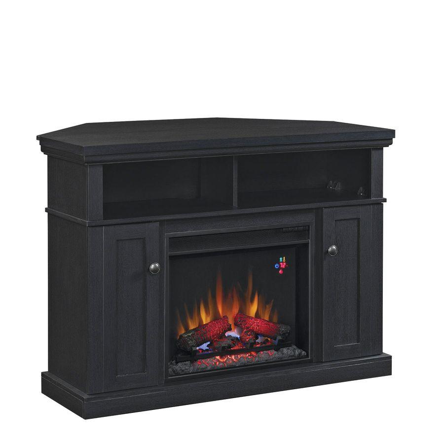 Shop Style Selections 46 25 In W 4 600 Btu Black Wood Corner Fan
