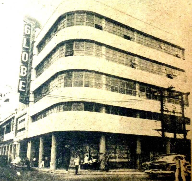 GLOBE THEATRE in 1953. located at Quezon Boulevard near the corner of Raon (Gil Puyat St.) and occupying the same block of Life Theatre. The building is still there minus the theatre signage. The theatre is already closed although the inside is still intact with seats and giant screen. The former lobby is converted into shops selling various items and other electronic items. Credit: Cesar Hernando, Mabelle Tenorio.